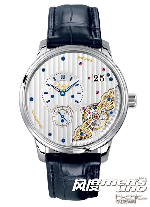 雅克德罗新款大秒针运动腕表 增添鳄鱼皮表带与日内瓦条纹奢华气质