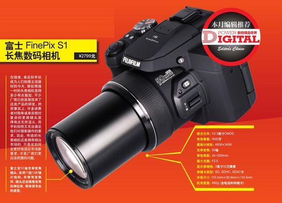 全面解析富士FinePix S1长焦数码相机