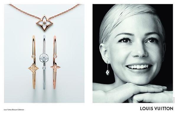 Michelle Williams 倾情演绎 路易威登全新Color Blossom BB 珠宝系列;LOUIS VUITTON;路易威登;Michelle Williams