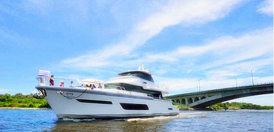 首艘Horizon V80系列动力艇The One  V74版本上的升级