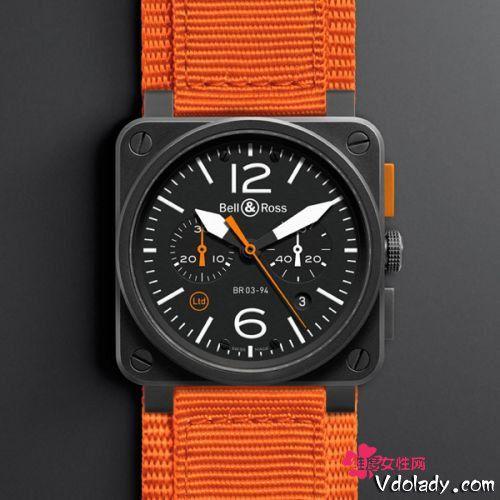 Bell & Ross(柏莱士)航空腕表BR 03-94 Carbon Orange腕表