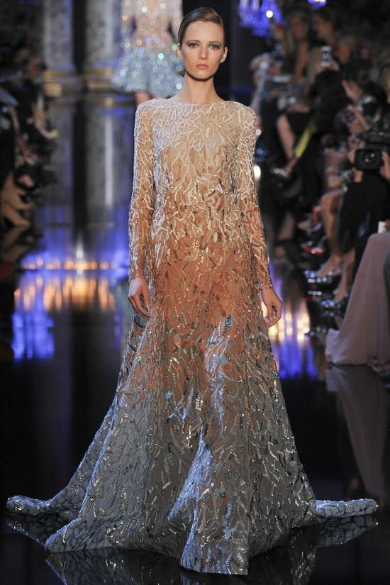 Elie Saab发布2014秋冬高级定制系列女装 捕捉巴黎明亮璀璨的美态