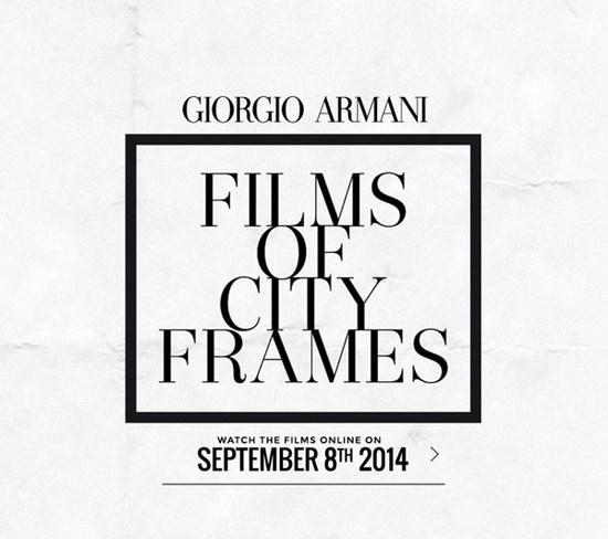 阿瑪尼釋出「Films of City Frames」時尚短片