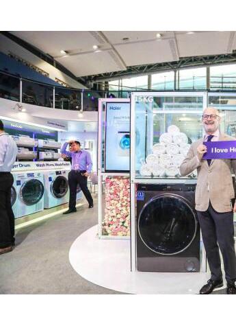 海尔将在全球22国上市大筒径直驱洗衣机