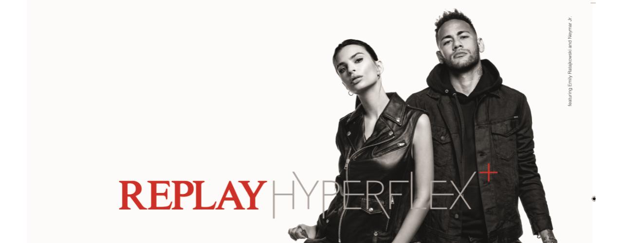 内马尔携手REPLAY HYPERFLEX+全新系列带你引领意式时尚潮流!
