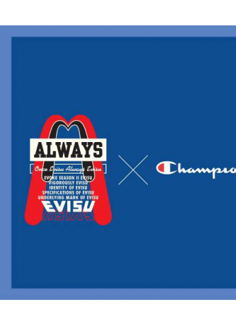 EVISU 攜手Champion本季凱旋而歸-日潮與美潮的街頭對話