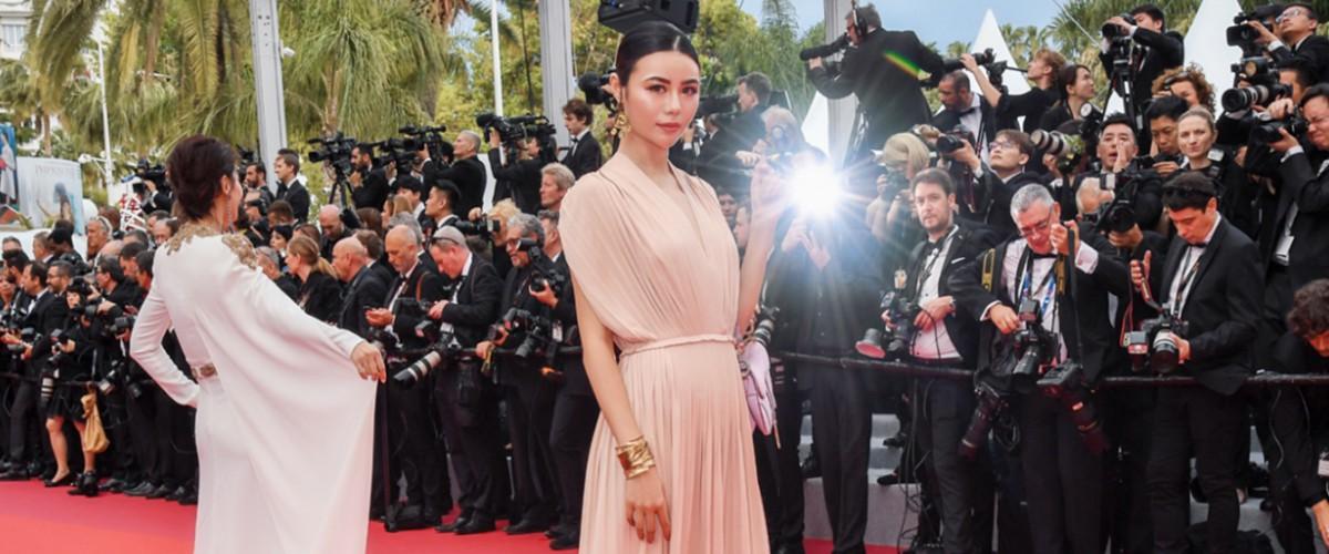 吕茜穿Dior2019春夏系列参加戛纳电影节