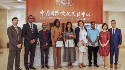 藝術是文化交流的核心語言 十國駐華大使夫人共賞半坡藝術之美