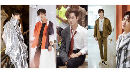 UNINE成员亮相巴黎时装周 李汶翰风格百变演绎多重时尚