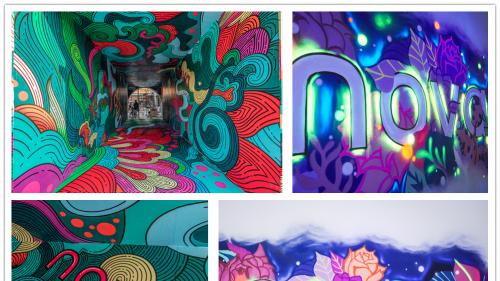 當藝術涂鴉遇上華為nova5系列人像超級夜景自拍,潮流生活自此開啟!