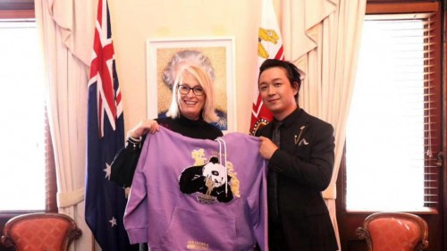 墨尔本市长也爱潘粤明的PSS熊猫!