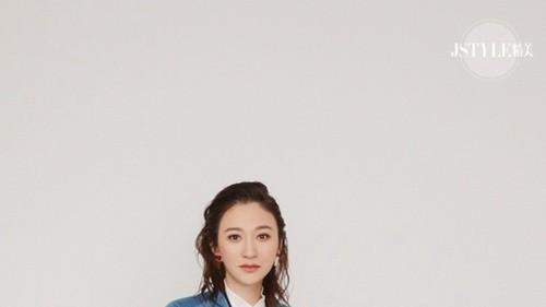 李小冉穿着STELLA LUNA-出镜《JSTYLE》拍摄演绎都市女精英