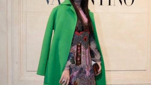 田海蓉与Valentino高定一起探寻心灵的春天