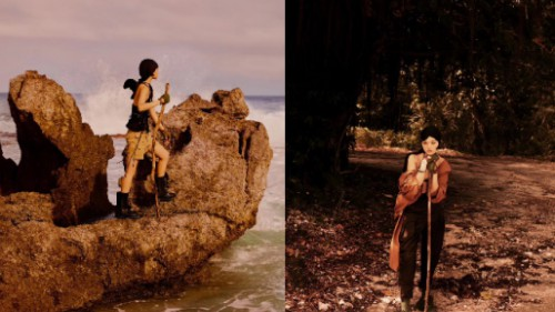 跟随超模海岛探险,感受大自然的原始风貌