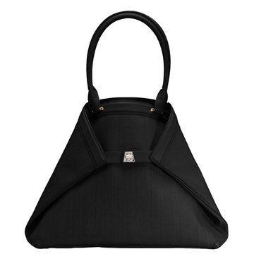 黑色马毛/小牛皮手提包