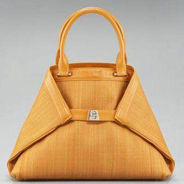 橙色皮革Ai系列小号拎包