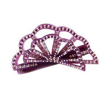 紫色扇形发饰