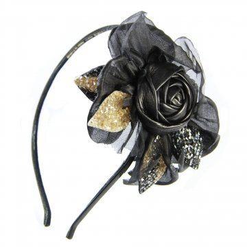 华丽皇后系列皮质花朵装饰发箍