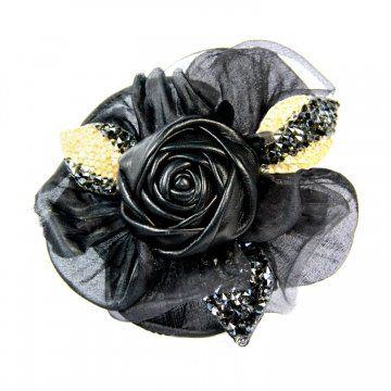 华丽皇后系列皮质花朵发夹