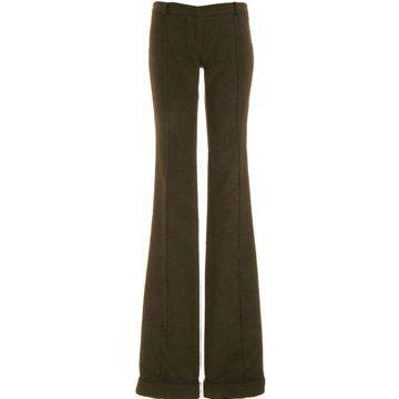 棉质低腰长裤