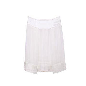 白色真丝半裙