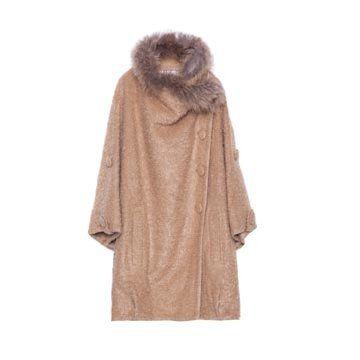 驼色羊绒大衣