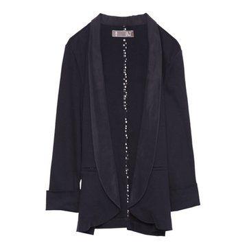 黑色宽松款西装外套
