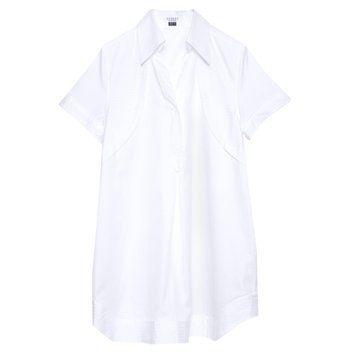 休闲长款白衬衫