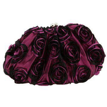 玫瑰纹蕾丝手拿包
