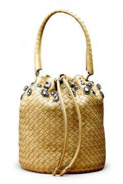 桶装编织手提包