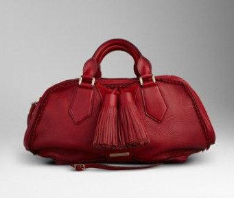 红色Landscape Luggage木纹小牛皮保龄球包