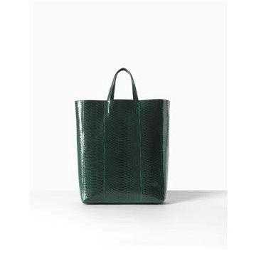 橄榄绿蛇皮手提包