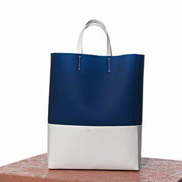 湖蓝色羊皮手提包