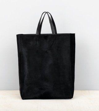 黑色反皮Cabas包