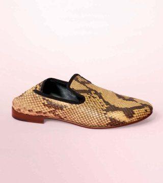 蟒纹平底鞋