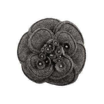 灰色羊毛饰花