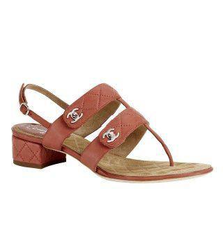亮棕宽皮带凉鞋