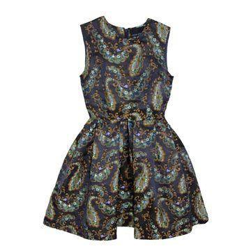 织锦连身裙