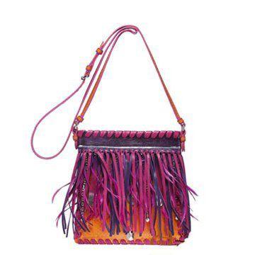 2011春夏模特走秀款时尚杂志推荐彩色流苏女士手袋挎包