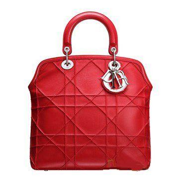 2011春夏最新深红色小羊羔皮女士手袋
