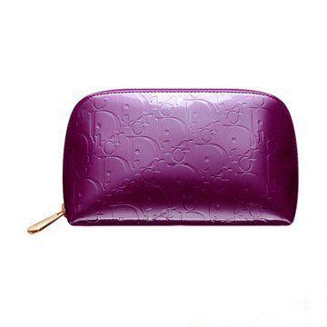 2011紫色珠光漆皮内部橙色拉链晚宴包