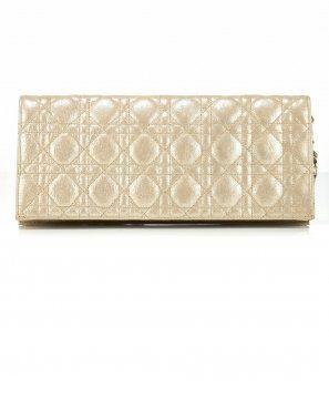 金色牛皮折叠手包