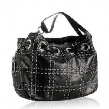 黑色羊皮Cannage手提包