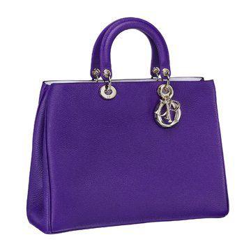 紫色皮质手拎包