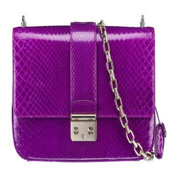 紫色蟒蛇皮单肩包