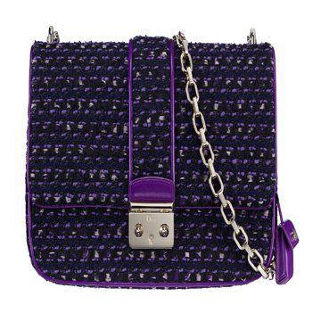 紫黑色链条单肩包