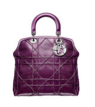 Granville紫色皮革手袋