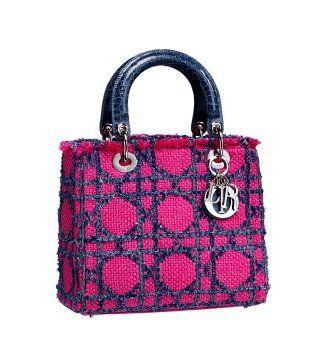 Lady Dior粉红色藤格纹手袋