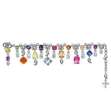 彩色珠宝手链