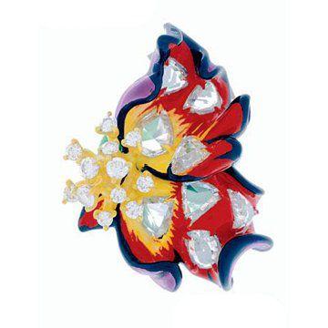 La Rose Dior Bagatelle钻石耳环